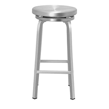 Astonishing Amazon Com Aluminum Swivel Backless Bar Stool Brushed Bralicious Painted Fabric Chair Ideas Braliciousco