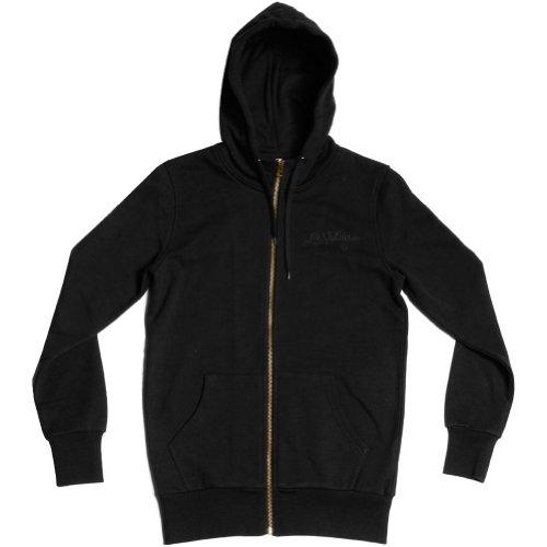 Crooks and Castles Women Les Voleurs Hoody Zip Sweatshirt, Black, Large