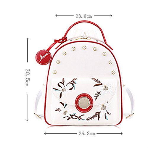 55167e0238a00 ZCJB Schultaschen Stickerei Rucksack Student Tasche Mode College Wind Lady  Taschen Handtasche