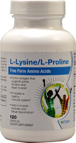 Roex L Lysine and L Proline 120 Capsules 2PC