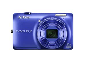 Nikon COOLPIX S6300 16 MP Digital Camera with 10x Zoom NIKKOR Glass Lens and Full HD 1080p Video (Blue)