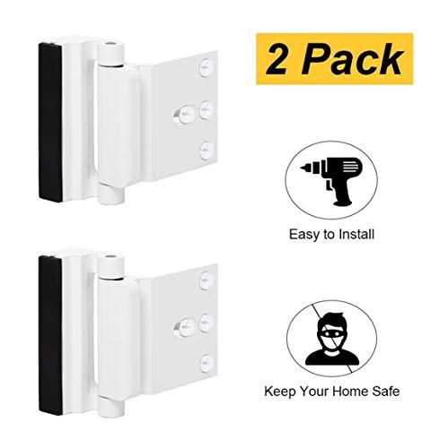 2 Pack Door Reinforcement Locks with 8 Screws, Defender Security Door Lock for Toddler, Childproof Door Lock Night Lock Withstand 800 Lbs ()