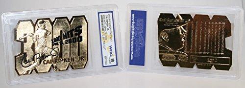 CAL RIPKEN JR 3000 Hits Die-Cut 23KT Gold Card Sculptured - Graded GEM MINT 10