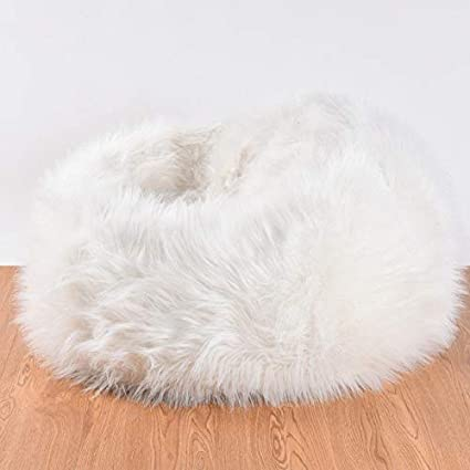 Stupendous Amazon Com Fidgetgear Large Fuzzy Faux Fur Bean Bag Chair Squirreltailoven Fun Painted Chair Ideas Images Squirreltailovenorg