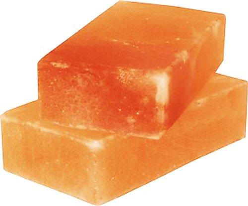 Salt Tile Himalayan 8x4x2 Set of 2 for Grilling Cooking Serving FDA# 15073930442 Gourmet Organic and Pure (Bricks Tile)