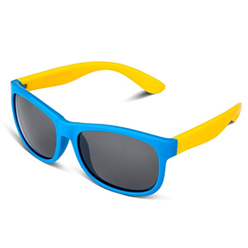 RIVBOS RBK023 Rubber Flexible Kids Polarized Sunglasses Glasses Age 3-10 - Sunglasses Kid