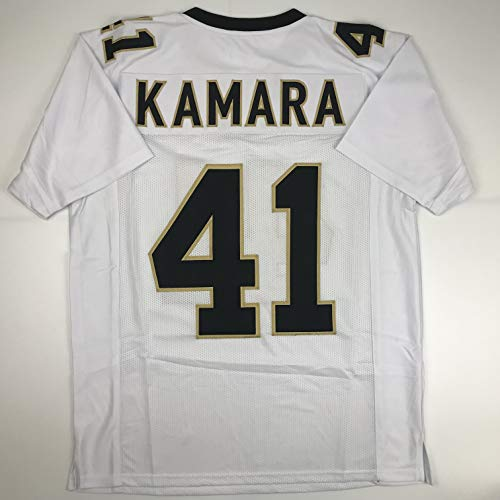 Unsigned Alvin Kamara New Orleans White Custom Stitched Foot