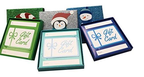 Glitter Gift Card Holder 6 pack with pop-up Holiday designs