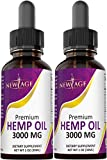 (2-Pack) 3000mg Hemp Oil Extract for Pain, Anxiety & Stress Relief - 3000mg