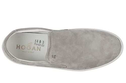 Hogan Slip On Uomo in Camoscio Sneakers Nuove Originali h302 Grigio