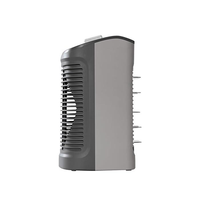 41ViY4MitVL Calefactor de aire caliente con dos posiciones y potencia regulable: 1.000 W silence y 2.000 W potencia máxima Función silence: reducción del nivel de ruido (sólo 44 dba en la posición silenciosa a 1.000 w) Función ventilador de aire frío ya que está diseñado para su uso durante todo el año