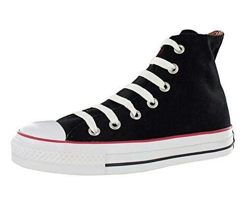 Converse Chuck Taylor All Star Rulle Ned Hi High-top Lerret Mote Sneaker  Svart