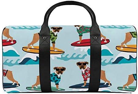 ボクサーサーフ1 旅行バッグナイロンハンドバッグ大容量軽量多機能荷物ポーチフィットネスバッグユニセックス旅行ビジネス通勤旅行スーツケースポーチ収納バッグ