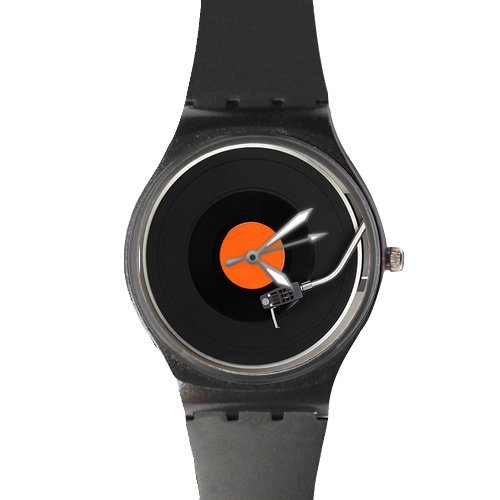 Christmas Gift Watch for Friends and Family Vinyl Record Turntable Classic Photo Watch High Quality 100% Plastic Quartz Watch (Cheap Records Vinyl)