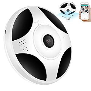 GARUNK 360 Degree Panoramic Wifi Security Cameras HD 960P Demo Camera Baby Monitors Home Camera Pet Monitor, Two Way Audio Video Camera Remote Viewing Night Vision Motion Detection VR Wireless Cameras
