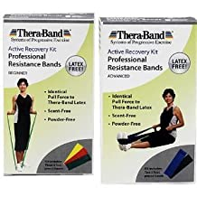 Thera-band Active Recovery Kits - Latex-free Exercise Band Packs - Advanced