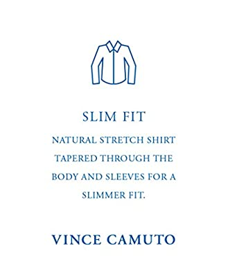 Vince Camuto Men's Slim Fit Glen Plaid Dress Shirt