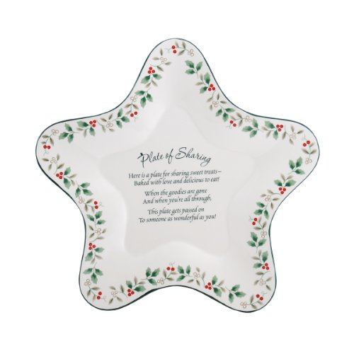 Pfaltzgraff Winterberry Star-Shaped Sharing Plate (Collection Tableware Winterberry)