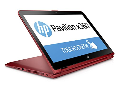 HP Pavilion x360 (15-bk103ng) 39,6 cm (15,6 Zoll / FHD IPS Touchscreen) Convertible Notebook (2 in 1 Laptop, Intel Core i5-7200U, 8 GB RAM, 1 TB HDD, Intel HD-Grafikkarte 620, Windows 10 Home), rot