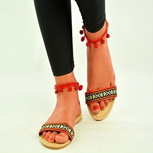 de Cucu Zapatos tacón Fashion mujer Red wZZq7BE