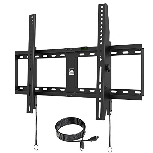"Fortress Mount TV Wall Mount for most 20-75"" TVs up to 165 lbs with 9-feet HDMI Cable"