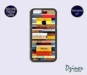 iPhone 6 Case - 4.7 inch model - Colorful Wood Design iPhone Cover