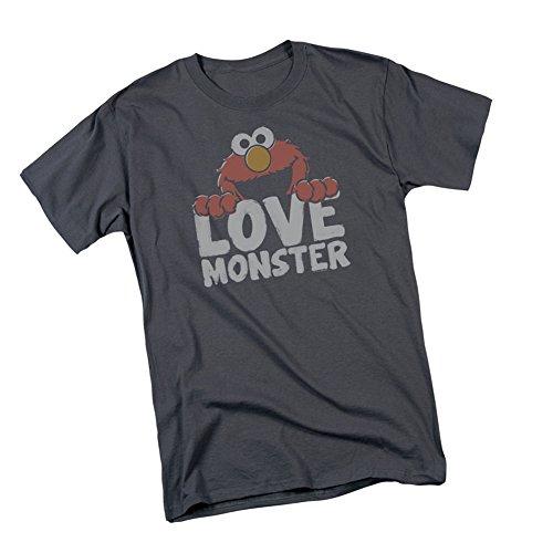Love Monster - Elmo -- Sesame Street Adult T-Shirt, Large (Elmo T-shirt Sesame Loves Street)