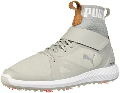 PUMA Golf Men's Ignite Pwradapt Hi Top Golf Shoe, Gray