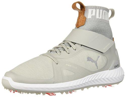 Puma Golf Men's Ignite Pwradapt Hi-Top Golf Shoe, Peacoat White-Puma red, 7 M US