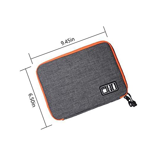 ChilMoTravel Electronics Cable Organizer Bag Universal Digital Accessories Storage Bag for Various USB, Phone, Earphone,Charger and Cable,Gray by ChilMo (Image #7)