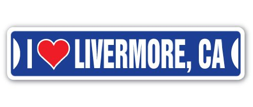 I Love Livermore, California Street Sign ca City State us Wall Road décor ()