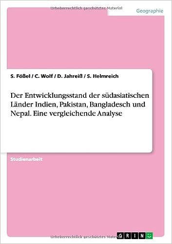 Book Der Entwicklungsstand der südasiatischen Länder Indien, Pakistan, Bangladesch und Nepal. Eine vergleichende Analyse