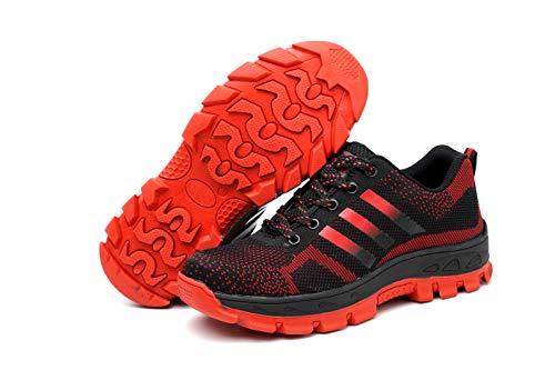 tone Rosso01 Lavoro Punta da Scarpe Donna Sneaker con Sicurezza Comodissime Ali Scarpe Scarpe Antinfortunistiche Adulto Unisex Acciaio s1 in Sportive Scarpe Uomo di AzBqd