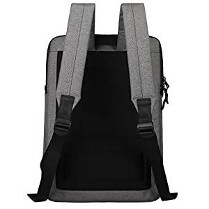 Cartinoe Slim Sleeve Case Style Laptop Backpack Business Travel Backpack College Backpack Computer Backpack Casual Daypack School Bookbag for Teenage Girls Boys fit 15 15.6 inch Laptop - Dark Grey