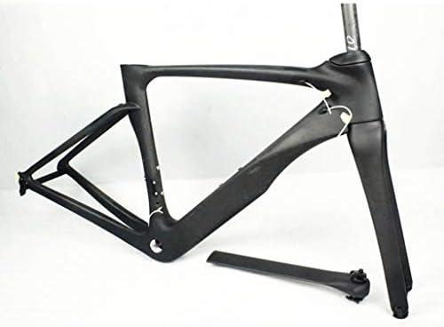 SN 自転車フレームフル炭素繊維700C Vブレーキロードバイクフロントフォークの手首EU EN14781標準 (Size : 56CM)