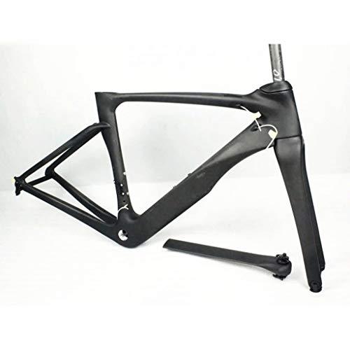 YXYH Bicycle Frame Full Carbon Fiber 700C V Brake Road Bike with Front Fork Wrist EU EN14781 Standard (Size : 54CM)