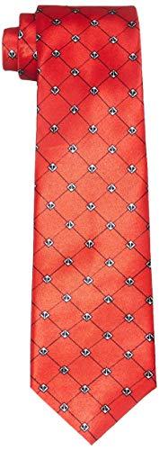 Park Avenue Men's Synthetic Necktie (PZNX18830-M6_Dark Maroon_150)
