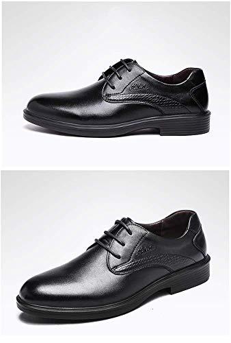 Formales 6 de Zapatos HhGold de Hombres del Zapatos 7 de Negocio Hombres tamaño Boda los US para la los Cuero Negro Marrón Hombres Vestir UK de de de Vestir Color ppxaXnrq5