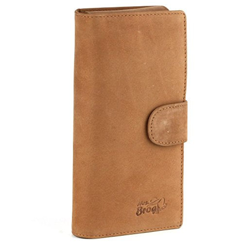 Tan Leather Cigar - Leather Cigar Purse Travel Case - Credi Card Slots, Cutter & Tube Slots - Diesel Leather - [Tan]