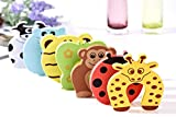 Bluestar 7Pcs Cartoon Animal Foam Door Stopper Cushion,Decorative Holder Lock Safety Guard Finger Protection for Children Kids Baby
