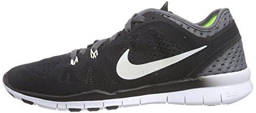 Nike Mujeres Free 5.0 Running Sneaker Negro / Blanco-gris Oscuro