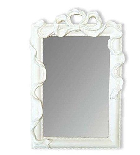 Amaranda Casa Specchio bianco rettangolare con fiocco cm. 25x2, 5x39h