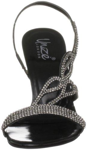 Unze Evening Sandals L18179W - Sandalias para mujer Negro