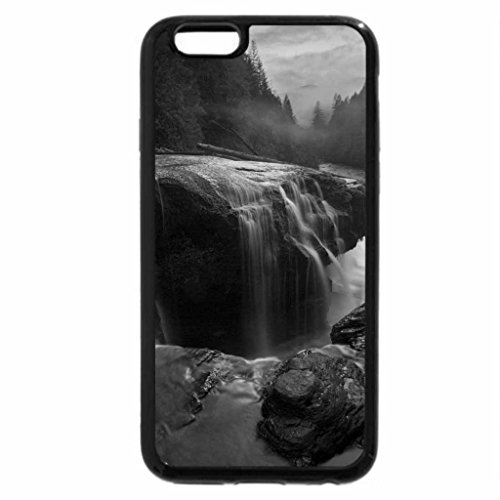 iPhone 6S Plus Case, iPhone 6 Plus Case (Black & White) - pretty lewis river waterfalls