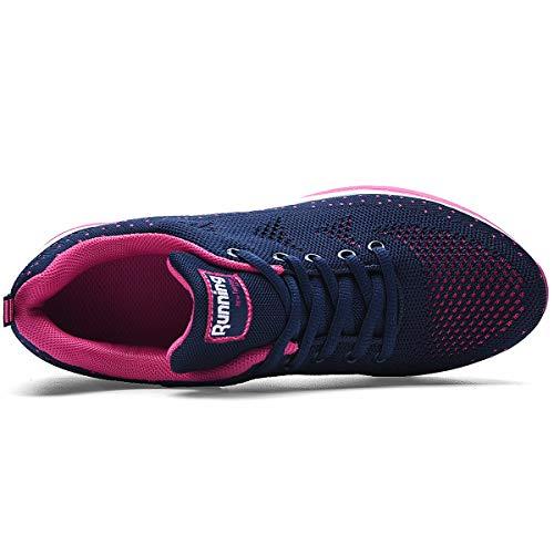 RomenSi Womens Air Athletic Running Sneakers Fashion Breathable Sport Gym Walking Tennis Shoes (US5.5-10 B(M) 5
