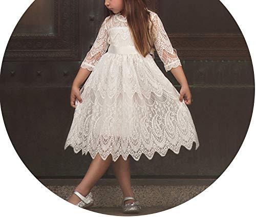 Petals Designs Girl Dress Children Party Costume Kids Formal Events Vestidos Infant Flower Dress Fluffy Wedding Gown 3 5 7T,as photo3,2T ()