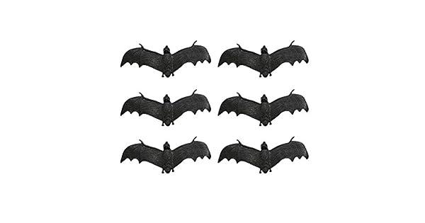 Amosfun 6pcs Halloween Realista Bat Fake Bat Tricky Juguetes Simulaci/ón Prop para Halloween Party Faovrs