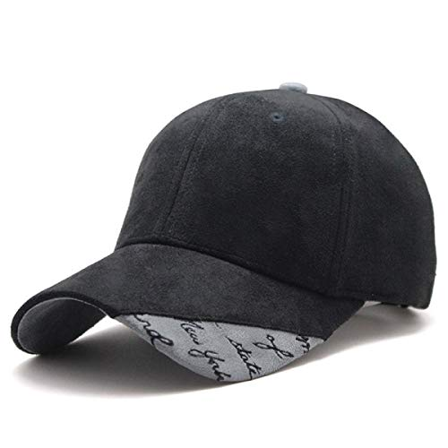 - WEEKEND SHOP Snapback hat New Suede Fabric Baseball Cap Men Women Cotton Snapback Hats Black