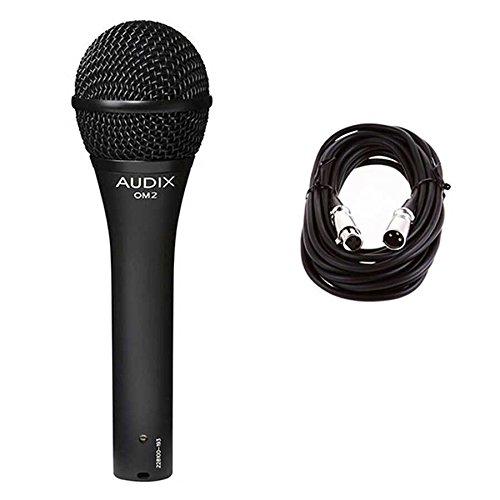 Audix OM2 Dynamic Hypercardioid Microphone w/ 20ft XLR Cable