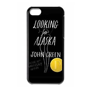 G5R72 Looking for Alaska G1T5QY funda iPhone funda caso 5c teléfono celular cubre WZ5PVD4CJ negro